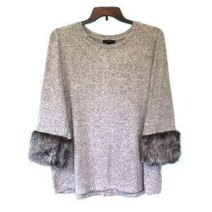 Lane Bryant Fur Hacci Top, grey size 18/20.